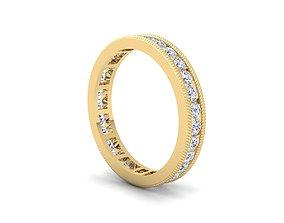 Eternity Band Ring 3d Model