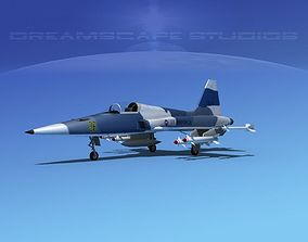 Northrop F-5E Tiger V03 USAF 3D model