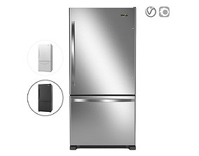 3D Whirlpool 33-inches wide Bottom-Freezer Refrigerator