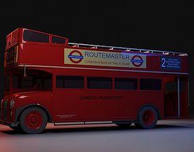 3D London Bus Open Top