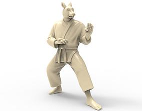 Rabbit Kokutsu Dachi Stance 3D printable model