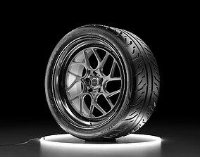 3D Car wheel Bridgestone Potenza RE-71R with Brixton 1