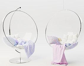 3D Plastic Swing Chair porch