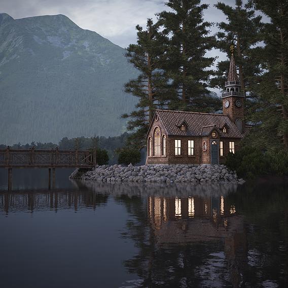 Chapel on Lake