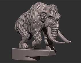 Mammoth on the hood of a car 3D printable model