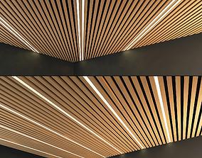Wooden Ceiling Set 8 3D