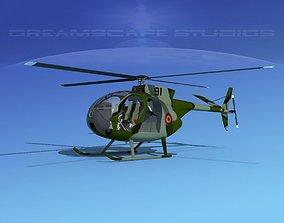 3D model Hughes OH-6 Cayuse V10