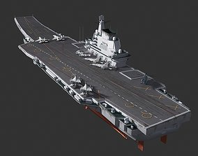 3D model Chinese aircraft carrier 001A Shandong ship 1