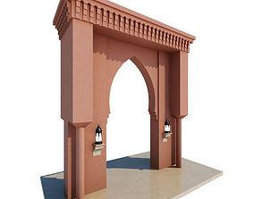 Traditional Moroccan Door 3D model door