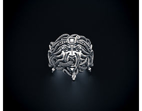 3D print model Gorgon ring