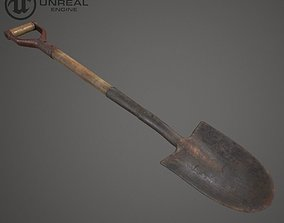 Shovel 3D model low-poly