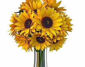 3D model Sunflower bouquet