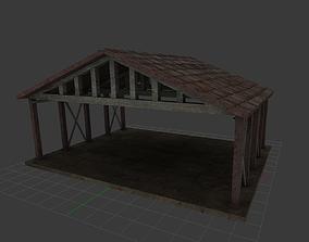 Hangar Low Poly 3D asset
