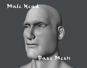 Male Head Base Mesh 3D model