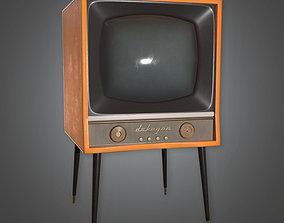 Retro Television Midcentury 3D model 3