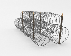 3D Barb Wire Obstacle barbed