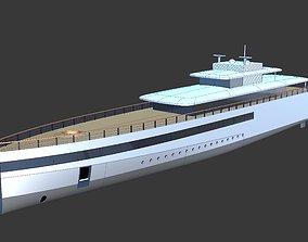 Feadship Venus Steve Jobs Yacht - NURBs and Polygon Model