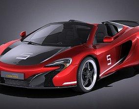 3D McLaren 650S Can-Am 2017 VRAY