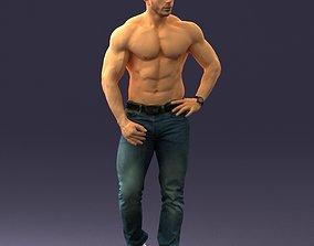 Naked torso man 0124 3D Print Ready