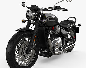 3D motorcycle Triumph Bonneville Speedmaster 2018