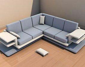 modern Long sofa 3D model