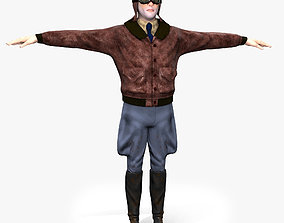 3D model Flyboy Barnstorm Pilot - aviator - Low poly - 2