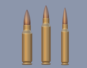 speed Bullet 3D model realtime