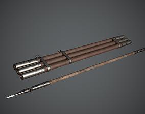 Javelin Arabic Medieval 3D asset PBR