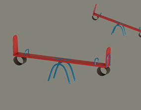 3D model rigged Seesaw