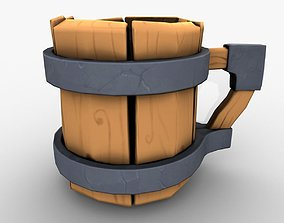 3D model Wood cartoon cup