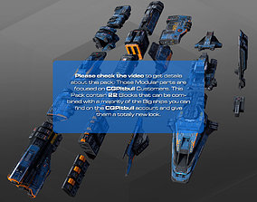 3D asset Spaceships Modulars Pack