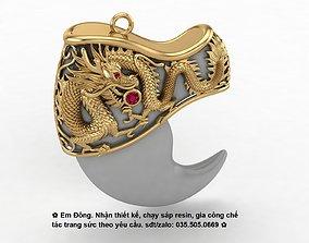 Tiger claw pendant 3D print model