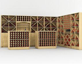 3D asset Wine rack