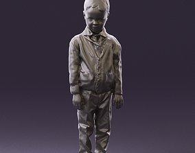 Kid in greengray pijama suit 0846 3D Print Ready