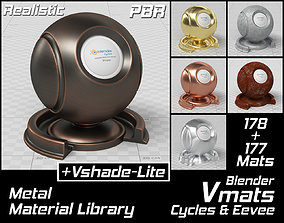 3D model VMATS Metal Material Library for Blender Cycles 1