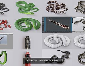 3D Snakes Vol 1 - Animated