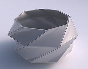 3D print model Bowl squeezed twisted with huge plates