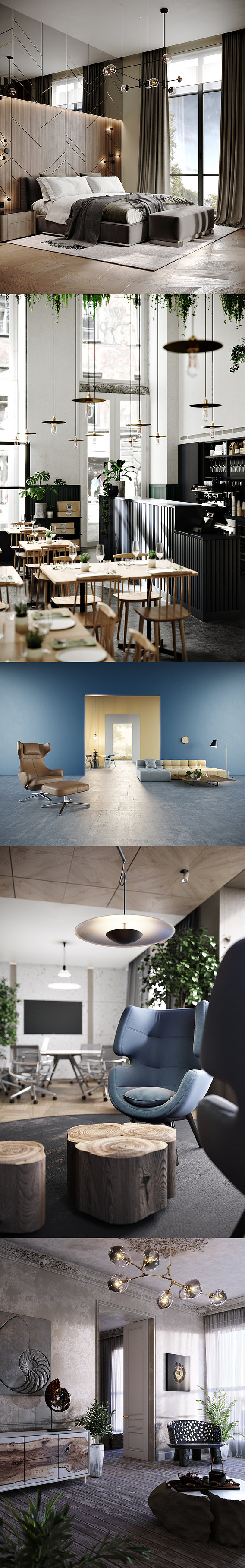 Collection of interior scenes Vol 1