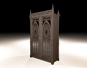 3D model Gothic cabinet bedroom