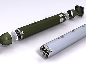 LAU-68 LAU-131 Rockert Launchers for Hydra 70 3D
