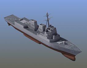 3D model Arleigh Burke Destroyer LD2
