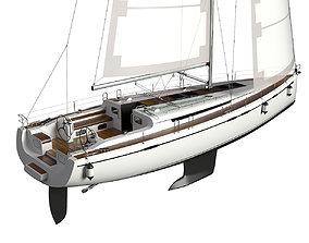 3D dock Sailboat
