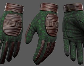 3D model Gloves military combat soldier armor scifi