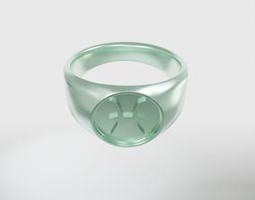 3D printable model Pisces Zodiac Sign Ring