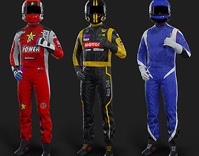 3D asset F1 Driver