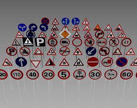 Road sign compilation 3D
