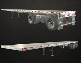 3D model Semi Trailer Flatbed