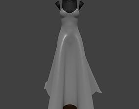 A-line Wedding dress 3D model