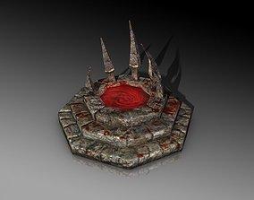 Blood fountain 3D model