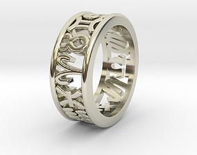 3D print model 57size Constellation symbol ring